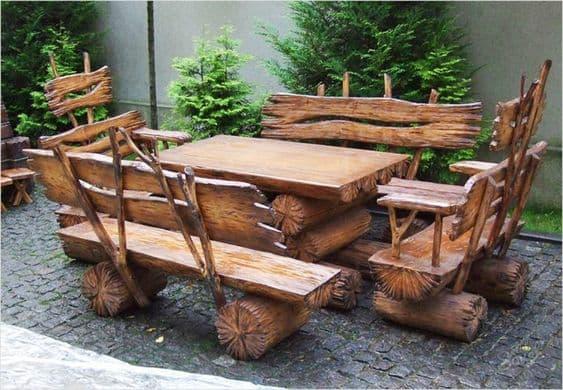 уличный обеденный стол на даче