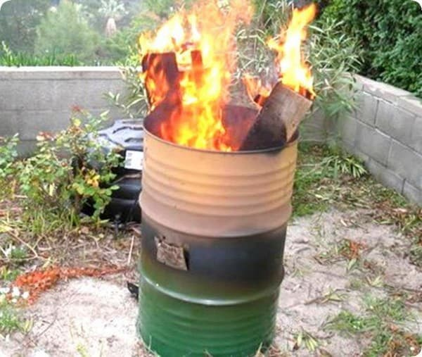 сжигание мусора на даче