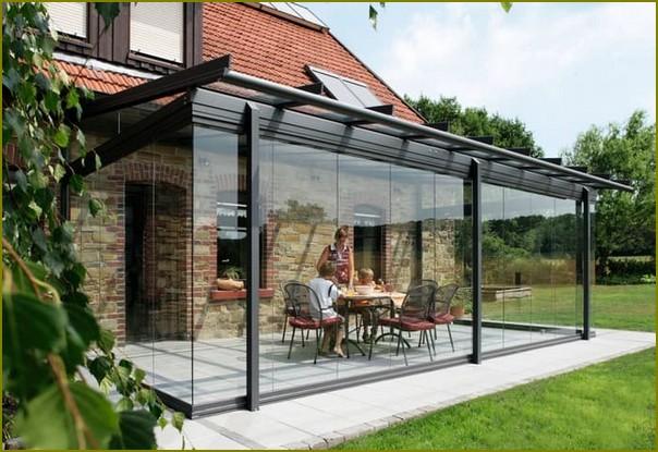 прозрачная пристройка к дому