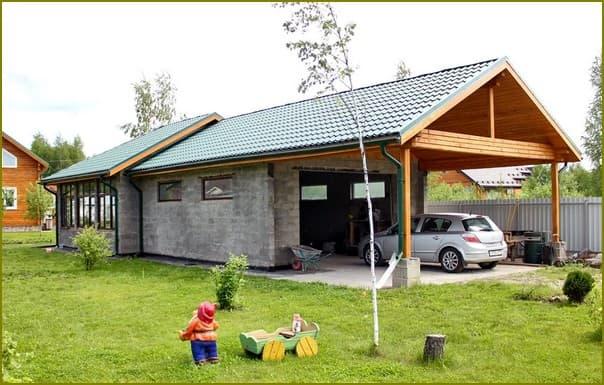 Дом с хозяйственными постройками