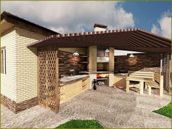 Надворные постройки в частном доме