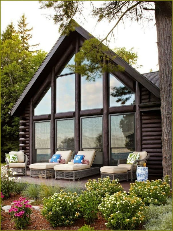 Дача с панорамными окнами