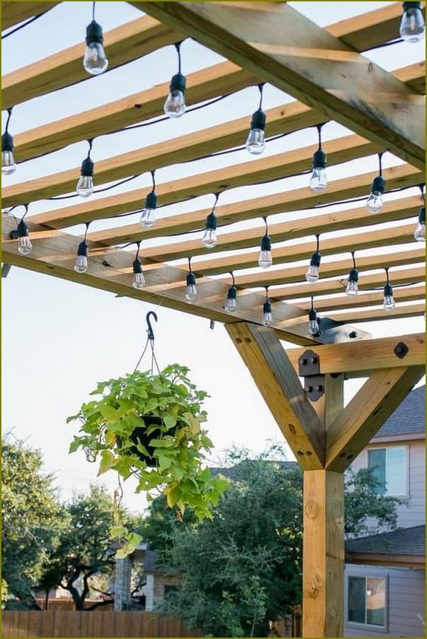 деревянные перголы для дачи