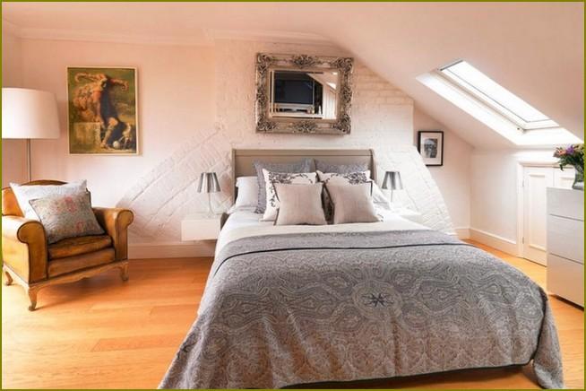 дизайн мансарды в частном доме спальня