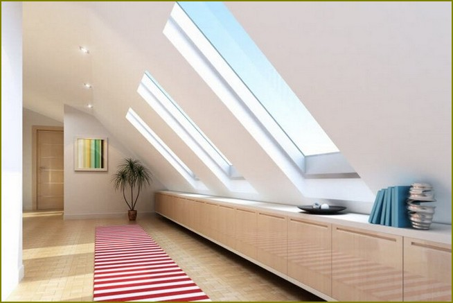 дизайн комнаты на мансардном этаже