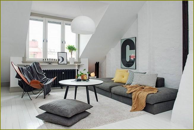 дизайн комнаты в мансарде частного дома