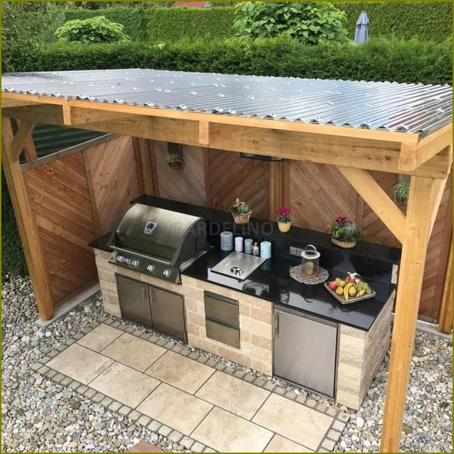 летняя кухня на улице