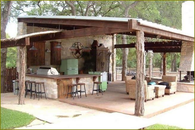 дачная летняя кухня