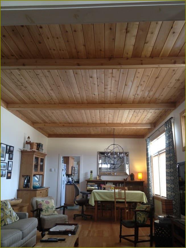 оформление дачного потолка