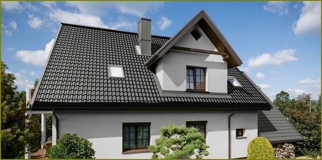 крыша дома из металлочерепицы
