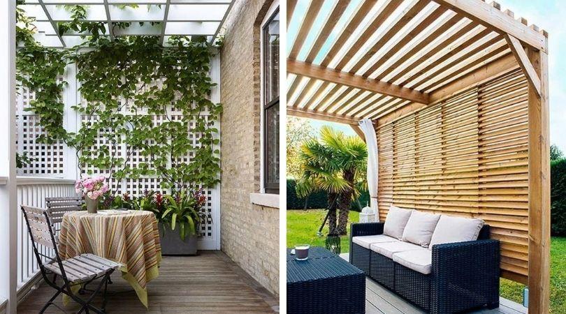 деревянные ширмы на даче