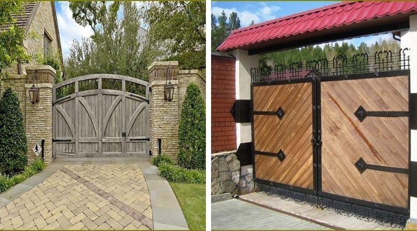 главные ворота загородного дома