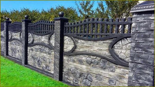 бетонный забор для частного дома