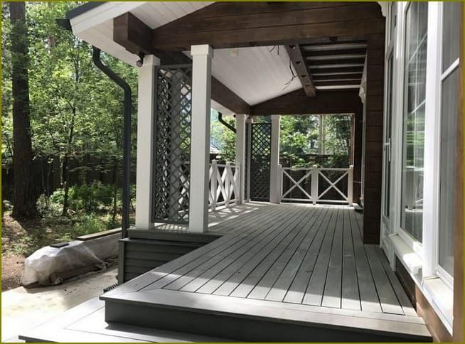 терраса палуба к дому