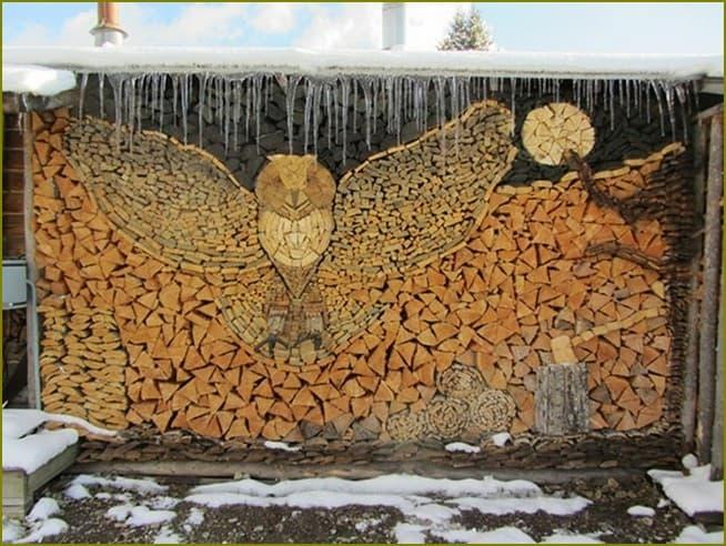 красивое хранение дров