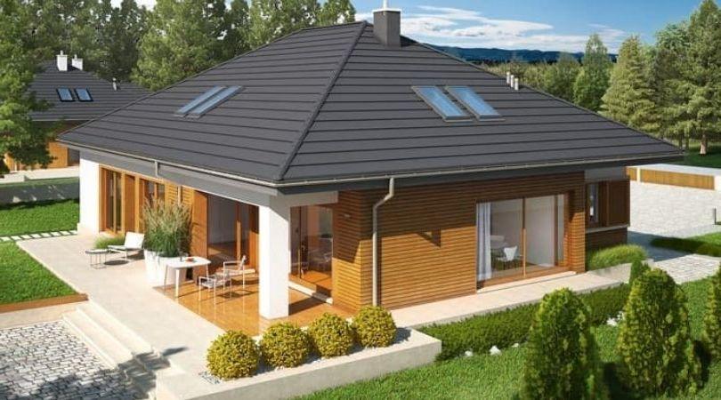 Современный красивый дом для загородной жизни